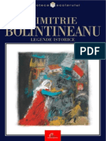 D. Bolintineanu Legende Istorice