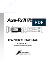 Axe Fx II Owners Manual