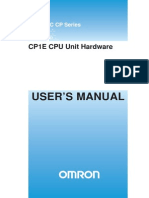 Omron PLC CP1E manual