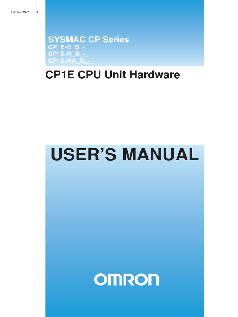 Omron PLC CP1E manual | Input/Output | Programmable Logic