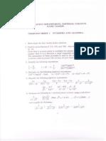 Imperial Pre-uni Maths Problemsheet