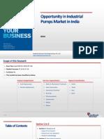 Opportunity in Industrial Pumps Market in India_Feedback OTS_2014