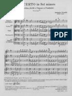 Concerto RV 318 -Spartito