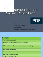 A Presentation on Sales Promotion