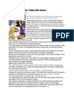 Sports Writing Sample