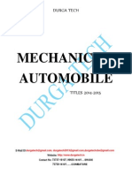 MECHANICAL/ AUTOMOBILE              TITLES 2014-2015