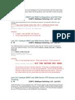 CCNP3V30 Lab Correction