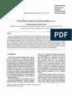 Anisotropic Elasticity of Polycrystalline Ice Ih