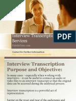 Interview Transcription Services Habile Data