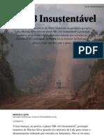 Folha - BR-163 Insustentável - Ciência