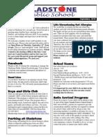 September Newsletter P1 2014