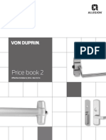 Von Duprin Price Book Oct 2014