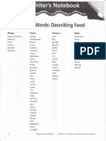 Sensory Words Describing Food