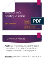 Stephanie's Boutique - Retail Marketing case