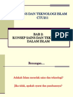 BAB 2 Konsep Sains & Teknologi Islam