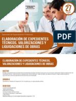 Elaboracion de Expedientes Tecnicos, Valorizaciones y Liquidaciones de Obras