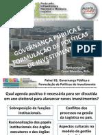 Governança Pública e Políticas de Investimento - ABOL