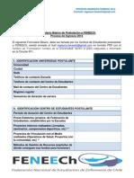 Formulario Básico de Postulacion Proceso 2014