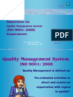 Presentation on Awareness of ISO 9001 2008