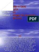 Project on Insurance - MALAV N DAVE