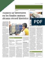 Número de Inversores en Fondos Mutuos Alcanza Récord Histórico_Gestión 9-09-2014