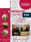 Bulletin d'Inscription / programme - Université de rentrée de MLG