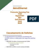 MetroEthernet Protocolos Spanning-Tree PVST Rapid-PVST MST QoS Ethernet QinQ MinM.