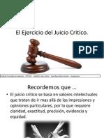 El Ejercicio Del Juicio Critico