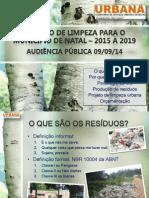 Apresentação Audiência Pública - Licitação de limpeza urbana de Natal