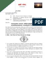To PM of India_Namo Ganga 04.09.2014