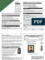 Programa Litúrgico de Cantos Sra. Juana Rosa via de Diaz