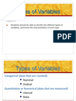 6 Types of Variables