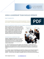 How a Leadership Team Should Operate