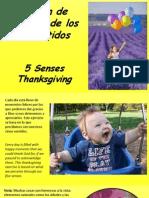 Acción de Gracias de Los 5 Sentidos - 5 Senses Thanksgiving