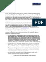 HMA Letter to Shareholders