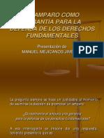 El Amparo Como Garantía Manuel Mejicanos