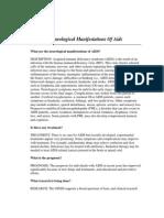 Neurological Manifestations of Aids