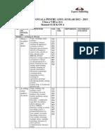 17. Planificare Anuala Limba Engleza L1 CLICK on 4 Clasa a VIII a 09071420