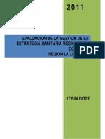 Evaluación Zoonosis I Trimestre 2011