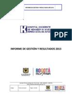 Informe de Gestión 2013