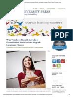 Why Teachers Should Introduce Presentation Practice Into English Language Classes _ Oxford University Press