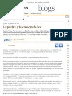 El Mercurio - Peña Público y universidades