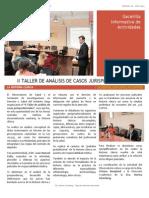 Gacetilla 10 - Taller de Análisis de Casos Jurisprudenciales Sobre Historia Clínica