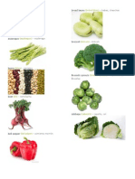 Verduras en Ingles y Español e Imagenes