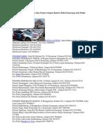 Berikut Ini Daftar Alamat Dan Nomor Telepon Kantor Polisi Semarang