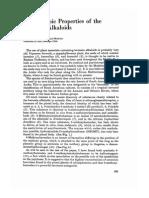 Psychotropic properties of Harmala alkaloids