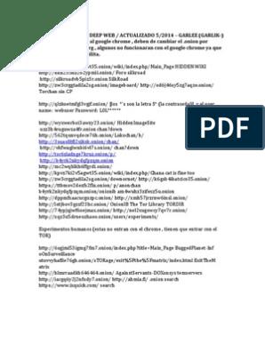 226060725 Actualizacion Links Deep Web 05 2014 | Tor (Anonymity