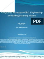 Philippine Aerospace R&D, Engineering and Manufacturing History