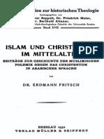 Fritsch, Erdmann (1930) Islam Und Christentum Im Mittelalter