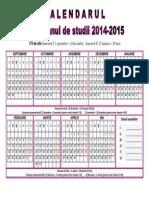 Calendarul Profesorului 2014-2015 Orizontal 2